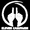 Eleven Logo Full white